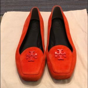 Tory Burch Orange 🍊 Suede Loafers